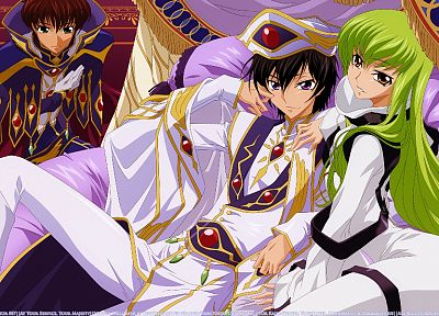 Code Geass, Kururugi Suzaku, Lamperouge Lelouch, C.C. - random desktop wallpaper