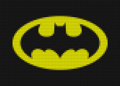 Batman, DC Comics, mosaic, logos, Batman Logo, Legos - desktop wallpaper