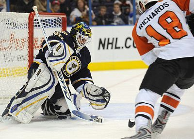 sports, men, hockey, NHL, goalie, Philadelphia Flyers, St. Louis Blues - random desktop wallpaper