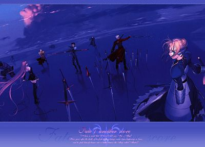 Fate/Stay Night, Gilgamesh, Type-Moon, Saber, Rider (Fate/Stay Night), Archer (Fate/Stay Night), Lancer (Fate/stay night), Fate series - related desktop wallpaper
