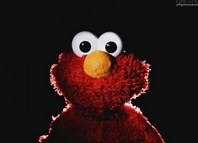 muppet, Sesame Street, Elmo, simple background - desktop wallpaper