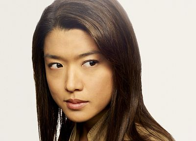 women, Grace Park, simple background - random desktop wallpaper