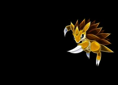 Pokemon, Sandslash, black background - random desktop wallpaper