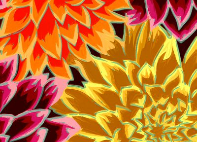 flowers, artwork - related desktop wallpaper
