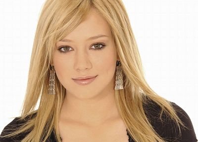 blondes, women, actress, Hilary Duff, celebrity, singers, faces, white background - related desktop wallpaper