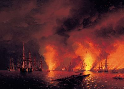 paintings, ships, artwork, vehicles, Ivan Aivazovsky - desktop wallpaper