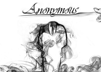 Anonymous, smoke - random desktop wallpaper
