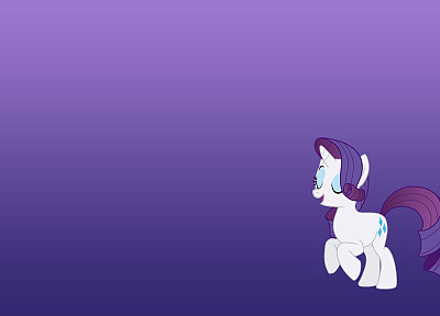 My Little Pony, Rarity, simple background - random desktop wallpaper