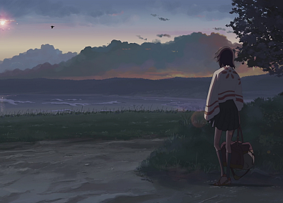 Makoto Shinkai, scenic, 5 Centimeters Per Second, artwork, anime - related desktop wallpaper