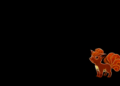 Pokemon, Vulpix, simple background, black background - random desktop wallpaper