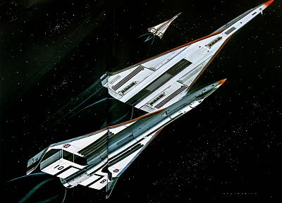 aircraft, outer space, futuristic, science fiction, artwork - related desktop wallpaper