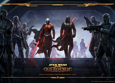Star Wars, lightsabers, Sith, Star Wars: The Old Republic, Darth Revan, Knights of the Old Republic, Darth Malak - random desktop wallpaper
