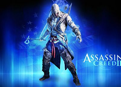 video games, blue, assassin, Assassins Creed, Assassins Creed 3, fan art - desktop wallpaper