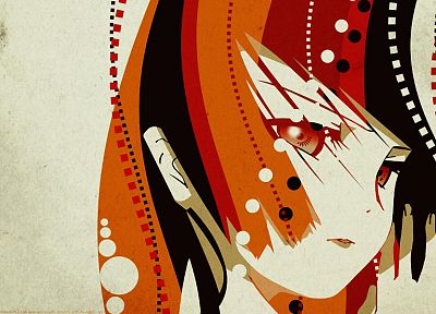 women, abstract, redheads, Jigoku Shoujo, Enma Ai, anime girls - random desktop wallpaper