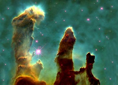nebulae, Pillars Of Creation, Eagle nebula - desktop wallpaper