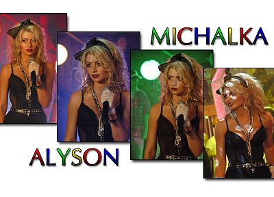 blondes, women, actress, celebrity, singers, Alyson Michalka - random desktop wallpaper