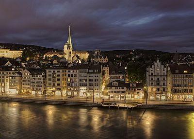 Europe, Switzerland, Zurich, cities - desktop wallpaper