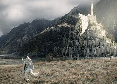 Minas Tirith, Gandalf, The Lord of the Rings, Gondor, The Return of the King - related desktop wallpaper