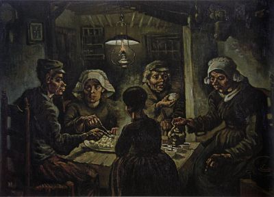 paintings, Vincent Van Gogh, artwork, The Potato Eaters - random desktop wallpaper