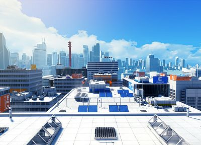 video games, cityscapes, Mirrors Edge, buildings - related desktop wallpaper