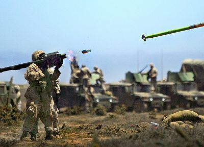 soldiers, war, army, military, weapons, rocket launcher, stinger - related desktop wallpaper