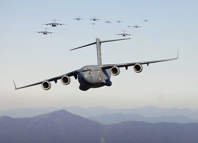 aircraft, military, planes, vehicles, cargo aircrafts, C-17 Globemaster - random desktop wallpaper