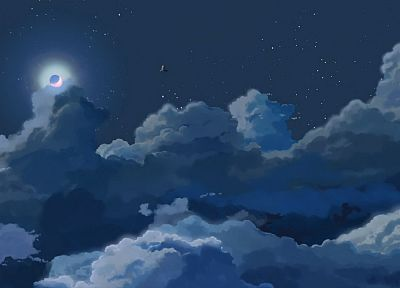 night, Makoto Shinkai, 5 Centimeters Per Second - random desktop wallpaper