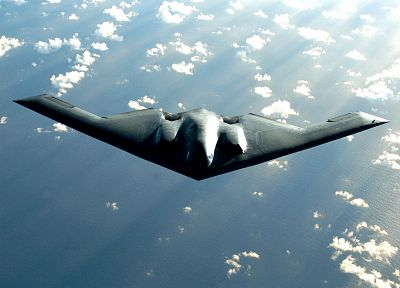 clouds, military, air force, skyscapes, B-2 Spirit - random desktop wallpaper