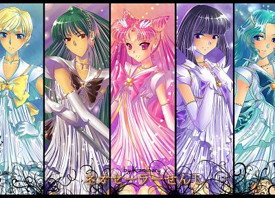 chibiusa, Sailor Uranus, Sailor Neptune, Sailor Pluto, sailor uniforms, Sailor Saturn, Bishoujo Senshi Sailor Moon, Sailor Chibi Moon - random desktop wallpaper