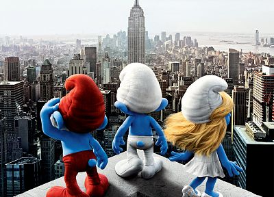 The Smurfs, movie posters, Papa Smurf, Smurfette - random desktop wallpaper