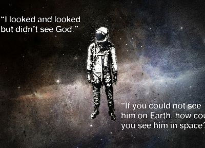 outer space, stars, quotes, astronauts, space suits, Yuri Gagarin, cosmonaut - random desktop wallpaper