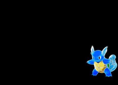 Pokemon, Wartortle, black background - random desktop wallpaper