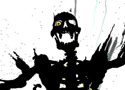 Watchmen, skeletons, Jon Osterman, graphic novel - random desktop wallpaper