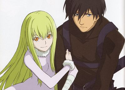 Darker Than Black, Hei, white background, Amber (Darker Than Black) - random desktop wallpaper