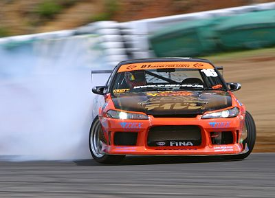 cars, drifting cars, Formula Drift, Nissan Silvia - random desktop wallpaper