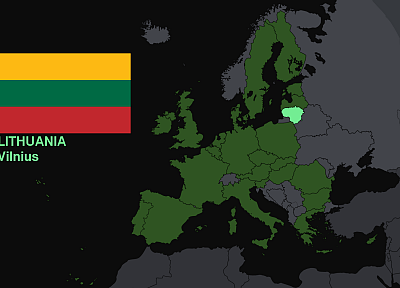 flags, Europe, maps, Lithuania, knowledge, countries, useful, Vilnius, Kaunas - random desktop wallpaper