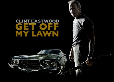 movies, Clint Eastwood, Gran Torino, black background - random desktop wallpaper
