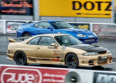 cars, Toyota, Nissan, vehicles, racing, Toyota Supra, Nissan Skyline R33 GT-R - related desktop wallpaper