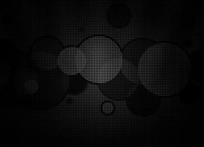 abstract, black, circles, geometry - related desktop wallpaper
