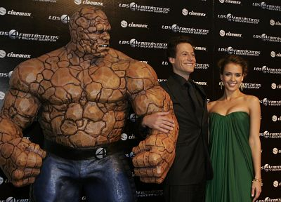 Jessica Alba, Fantastic Four, celebrity, Ioan Gruffudd, Thing (Ben Grimm) - desktop wallpaper