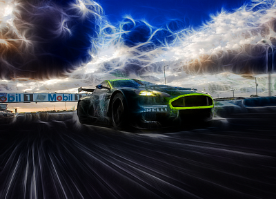 cars, artwork, drawings, Aston Martin DBRS9 - related desktop wallpaper