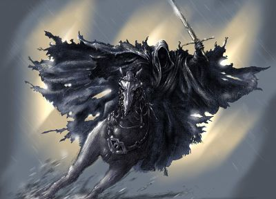 The Lord of the Rings, nazgul, The Witch King, ringwraith - random desktop wallpaper