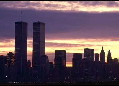 World Trade Center, city skyline, twin towers - random desktop wallpaper