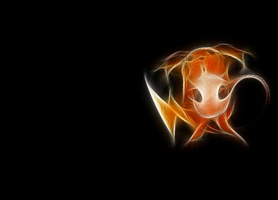 Pokemon, Fractalius, Raichu, black background - related desktop wallpaper