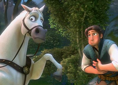 horses, Tangled - random desktop wallpaper