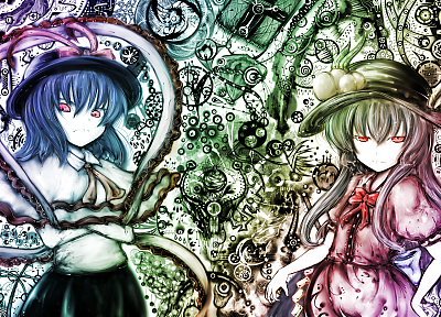 Touhou, Hinanawi Tenshi, Nagae Iku - related desktop wallpaper