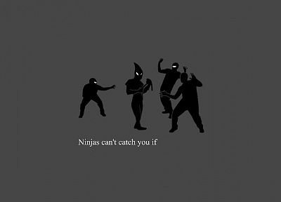 ninjas cant catch you if - random desktop wallpaper
