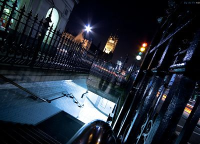cityscapes, night, London - desktop wallpaper