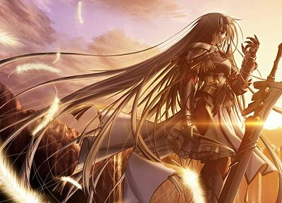 knights, fantasy art, visual novels, Sione, Primitive Link - random desktop wallpaper