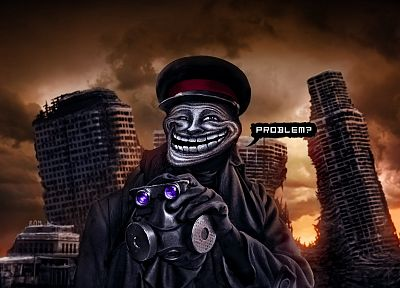 trollface, trolls, Romantically Apocalyptic, Vitaly S Alexius, Zee Captein - related desktop wallpaper